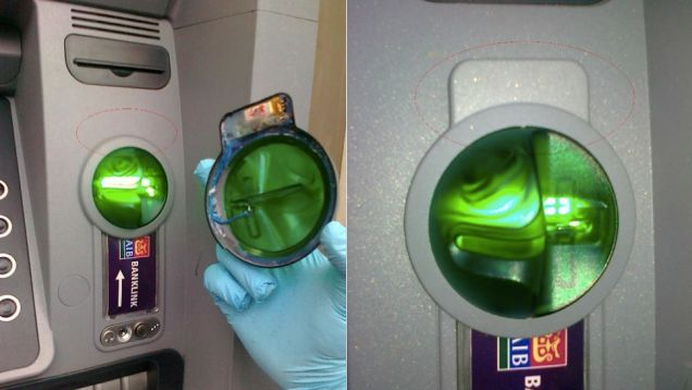 Presta atención a cualquier cosa inusual en tu cajero automático normal